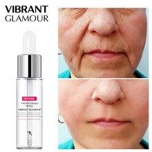 Vibrante glamour rosto soro peptide colágeno essência facial endurecimento anti-rugas remover linhas finas hidratante cuidados com a pele 15ml