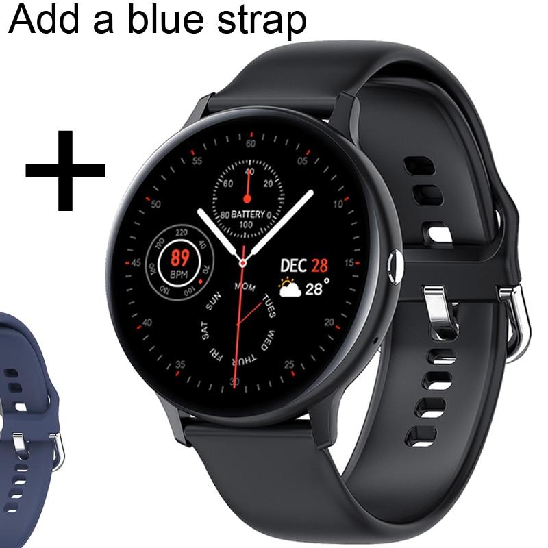 Add blue strap
