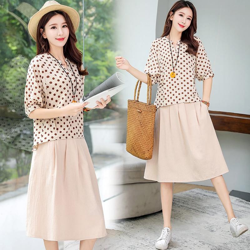 Casual Short Sleeve Set/Suit Skirt 2019 Summer Trend Simple Cool Slimming Slim Fit Versatile Elegant
