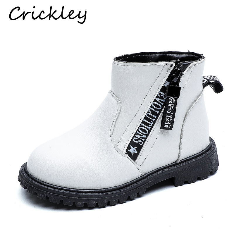 Children Pu Leather Martin Boots for Girls Fashion Casual Kids Girls Boots Comfortable Winter Shoes Red White Black Kids Boots in Boots from Mother Kids