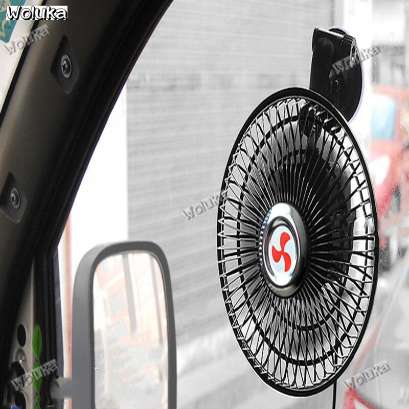Sunnyflowk Ventilador de Coche de Ventosa de 6 Pulgadas 12V 24V Ventilador peque/ño Potente Mini cami/ón Grande port/átil Ventilador el/éctrico Suministros de Coche Negro