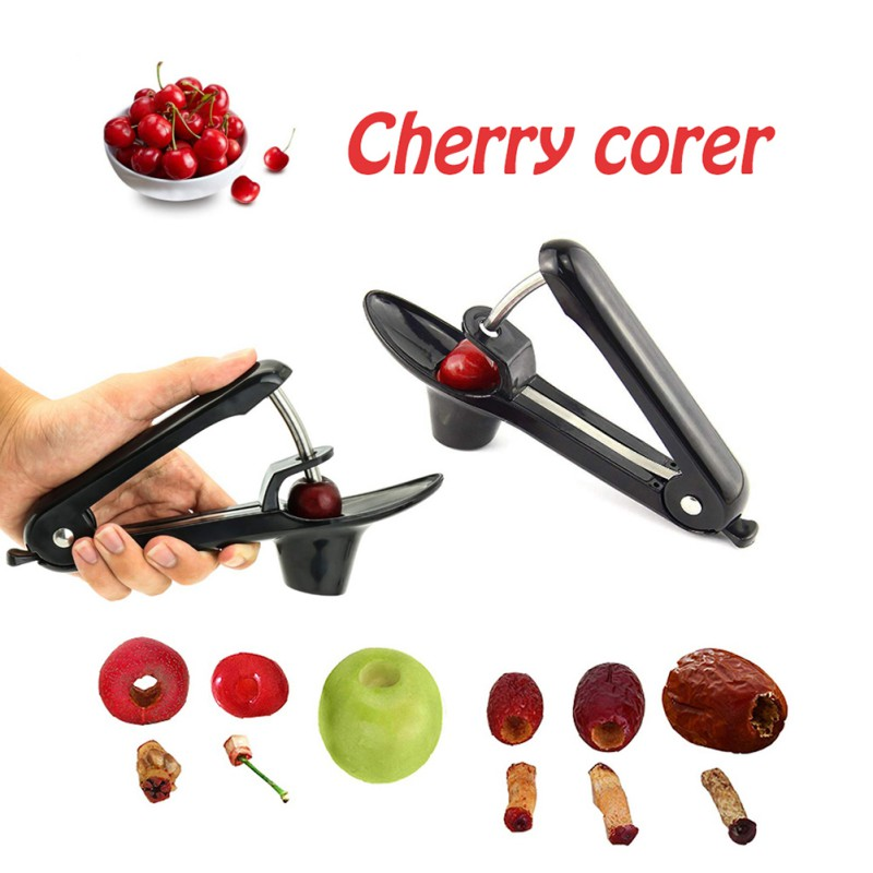 2019 Cherry Stoner Pitters Manual Fruit Vegetable Corers Seed Remover Tool With Space Saving Lock Design in Cherry Pitters from Home Garden