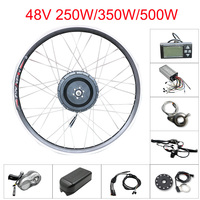 48v 250w/350w/500w electric bike conversion kit without battery 48v front motor wheel electric bicycle kit 2026700C hub motor