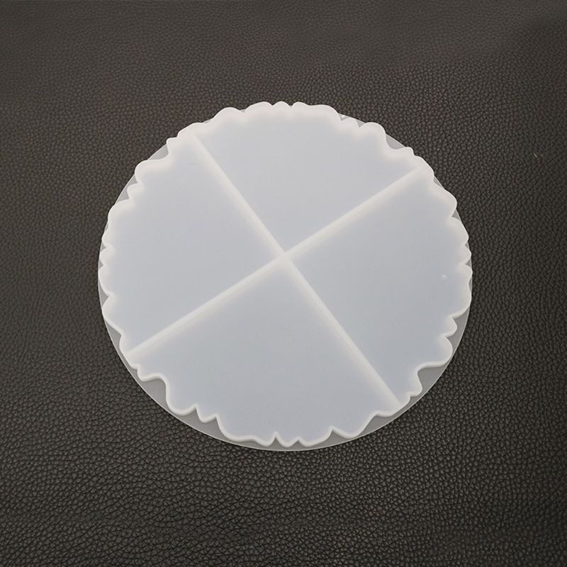 Irregular Wave Round Coaster Silicone Resin Mold Epoxy Resin  Jewelry Making