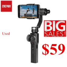 Used Open box ZHIYUN Smooth 4 3 Axis Handheld Phone Gimbal Stabilizer for Smartphones iPhone XS 11 HUAWEI Xiaomi Samsung Galaxy