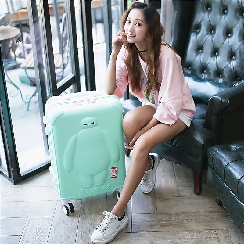 kids Anime Rolling luggage set women trolley suitcase girls boys pink cute spinner brand carry on