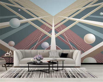 3d Wallpaper Living Room Modern and Simple 3D three-dimensional Geometric City Building Space Art Silk Mural Wallpaper wallpaper wallpaper city guide basel 2012
