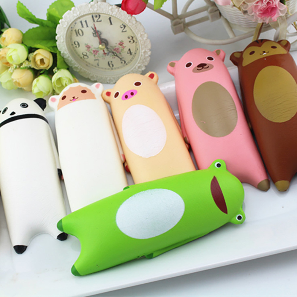 Kids Toys Elastic Environmentally PU 1 PCS Squishy Cute Animal Bread Phone Straps Slow Rising Bun Charms Gifts Toys