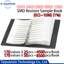 A Book 0201 0402 0603 0805 1206 SMD Resistor Book 1% Capacitor Resistance Package Component Sample Book One-hundredth Accuracy