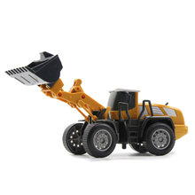Four in One Diecast Engineering Vehicle Tractor Toy Truck Car Model 1:55 Bulldozer Snow Clearer forklift Road Roller Car Set Gif(China)