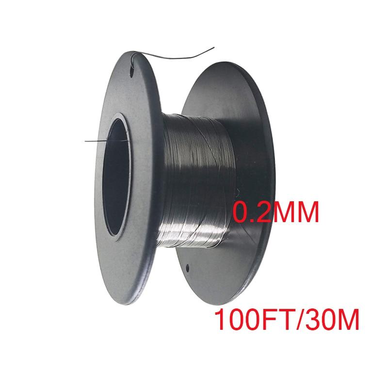 1 шт./выдерживающие погружение до 30 метров нихромовой проволоки Диаметр 0,2 мм A1 сопротивление нагревательного провода проволочный сплав наг...