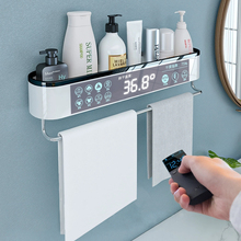 Montado banheiro organizador prateleira shampoo cosméticos rack de armazenamento banho de cozinha toalheiro titular artigos do agregado familiar acessórios do banheiro