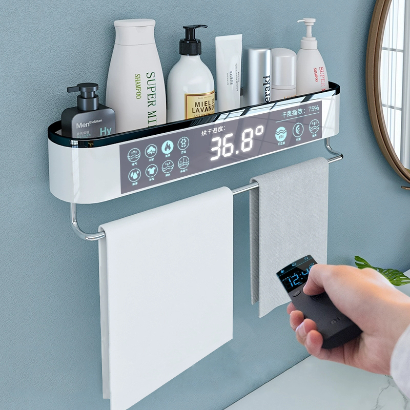 Mounted Bathroom Organizer Shelf Shampoo Cosmetic Storage Rack Bath Kitchen Towel Holder Household Items Bathroom Accessories