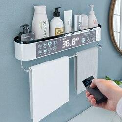 Zamontowany Organizer łazienkowy półka szampon przechowywanie kosmetyków Rack wanna ręcznik kuchenny uchwyt artykuły domowe akcesoria łazienkowe