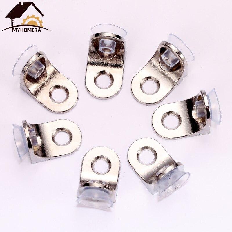 Myhomera 20Pcs 10Pcs Glass Shelf Brackets Suction Support Studs Pegs 5mm Shelves Fixed Cabinet Cupboard Glass Bracket Supporter