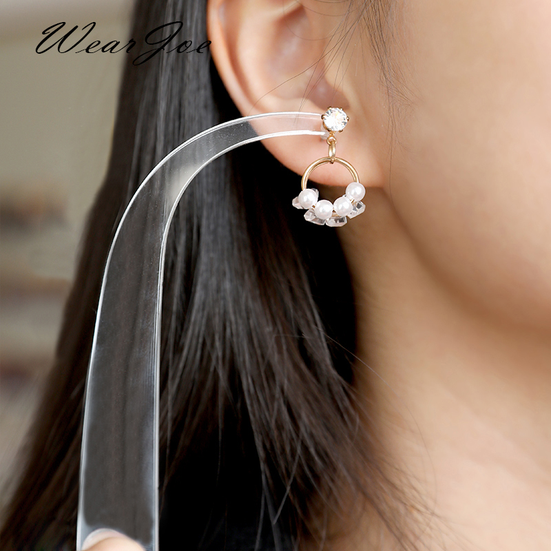 Web Celebrity Acrylic Earring Try On Stick Forecast Shop Special Tool Ear Stud Jewelry Trial Display Holder Rack For Live Stream
