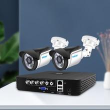 Smar 4CH 1080N 5in1 AHD DVR Kit CCTV System 2pcs 720P/1080P AHD Waterproof/Bullet Camera
