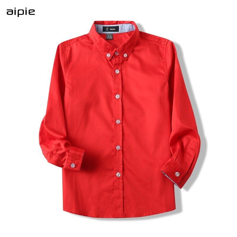 2020 Spring Children Shirts New Fashion Solid Color 100% Cotton Good Quality Satin Boys Shirts Clothing  Kids Shirts