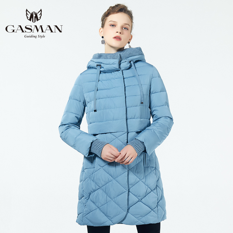GASMAN 2019 Brand Fashion Thick Women Winter Bio Down Jackets Women Hooded Down Parka Warm Female Clothes Outerwear Coat Jackets