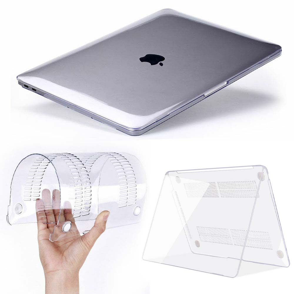 KK&LL For Apple MacBook Air Pro Retina 11 12 13 15 & New Air 13 / Pro 13 15 Inch With Touch Bar -Crystal Hard Shell  Laptop Case