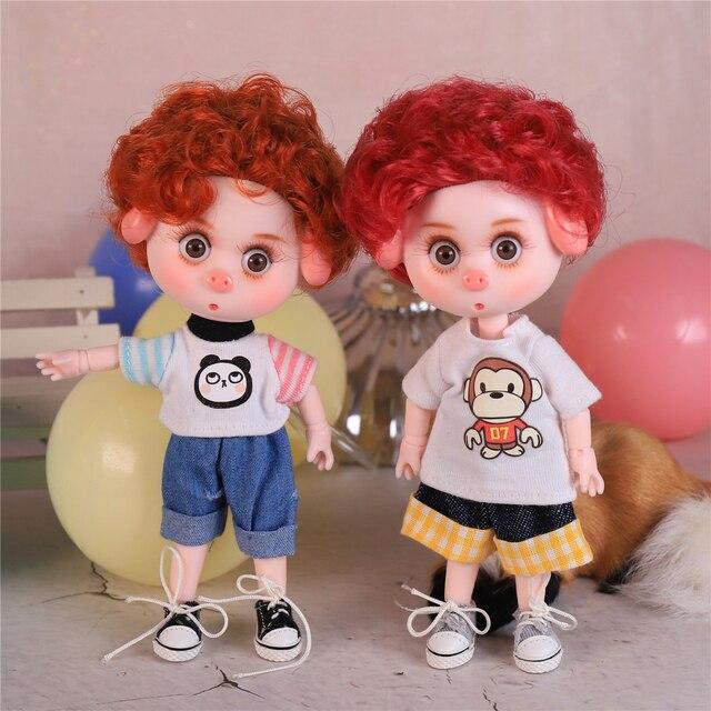DBS Dream Fairy 1/12 BJD DODO doll 15cm doll toy ob11 mini doll with clothes shoes 6