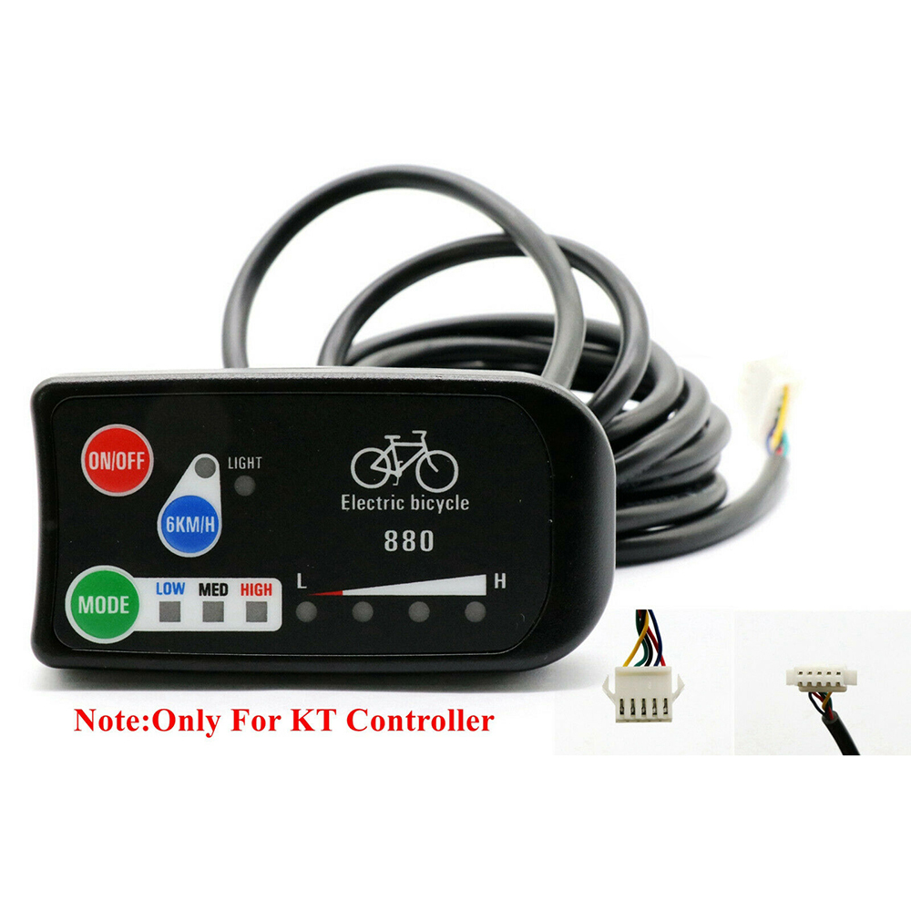 24V 36V 48V LED KT 880 Display Control Panel Electric Bicycle Part Four-bit intelligent power display
