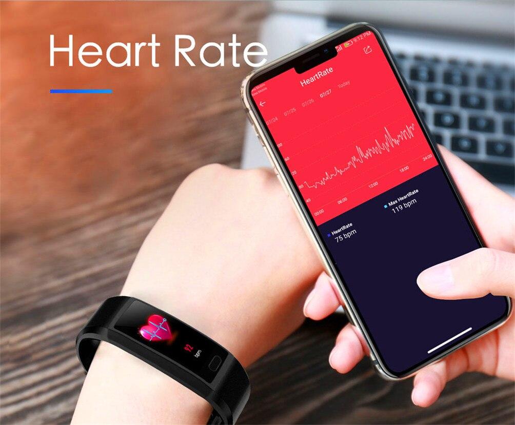 H78bb54f83bae4bffbfcccd73f9703ccfL 2020 Smart Wristband Fitness Bracelet Blood Pressure Measurement Smart Bracelet Heart Rate Waterproof Pedometer Smart Band Watch