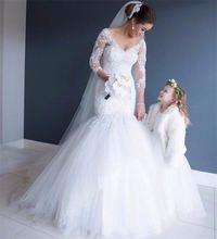 Романтическое свадебное платье русалки с кружевной аппликацией
