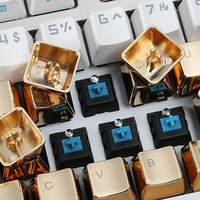 87 Cherry Profile MX ZINC GOLD OR SILVER KEYCAPS 37 Keys Customize Of Mechanical Keyboard Aluminum Alloy Key Cap Gh60 87 104 Gaming (3)