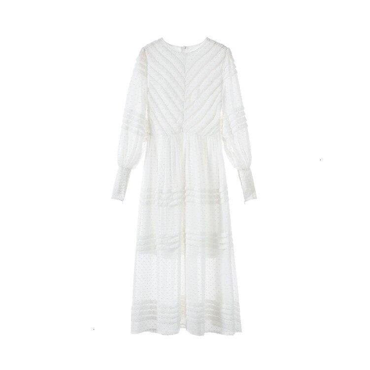 2019 herfst retro platter jurk hoge taille seaside vakantie jurk print jurk lange vrouwelijke zomer - 5