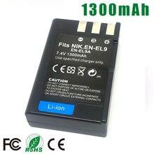 Batterie pour appareil photo reflex Nikon, compatible avec les modèles EL9a, ENEL9a, EN-EL9a, EL9, ENEL9, D40, D60, D40X, D5000, D3000, L15, EN-EL9