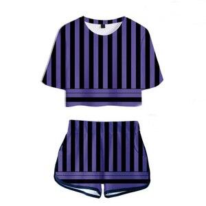 Image 5 - Футболка с изображением рассекающего демонов: Kimetsu no Yaiba Kamado Tanjirou Nezuko, костюм для косплея, Kochou Shinobu, футболка Iguro Obanai, короткие футболки