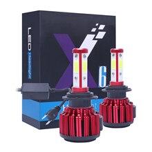 Автомобильный свет 20000LM/комплект светодиодный H7 H4 H8 H9 H11 9005 HB3 9006 HB4 9012 9004 9007 5202 H13 светодиодный фар 6500 к 100 Вт 9 В, 12 В, 24 В постоянного тока, светодиодные лампы
