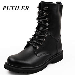 Man Boots Bot Men Shoes Warm Military Tactical Us-Army Black Outdoor Winter Casual Fur