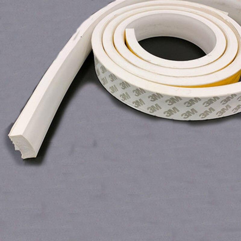 Силиконовая пенопластовая квадратная лента длиной 1-5 м, термостойкая самоклеящаяся силиконовая пенопластовая уплотнительная лента