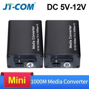 Image 1 - DC 5V 12V 20KM 1000M Mini Gigabit Media Konverter Glasfaser bis RJ45 Einzigen Modus ethernet Schalter Optische Transceiver SM SC FTTH