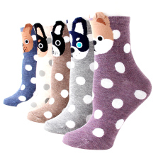 Women's Socks Cartoon Animal loyal Dog funny socks Character Cute colorful pattern for Winter and Autumn