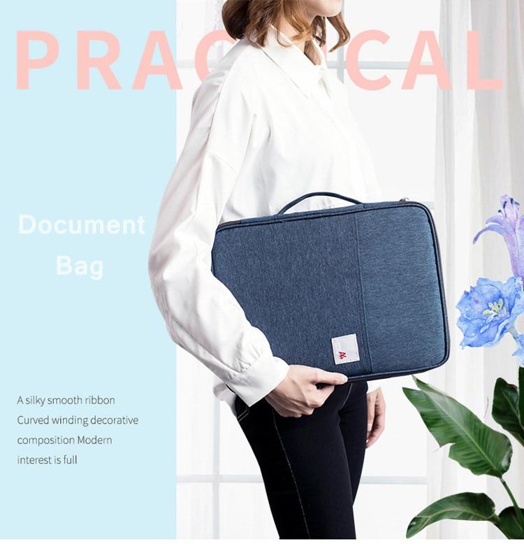 Multi-funcional a4 documento sacos arquivamento bolsa portátil