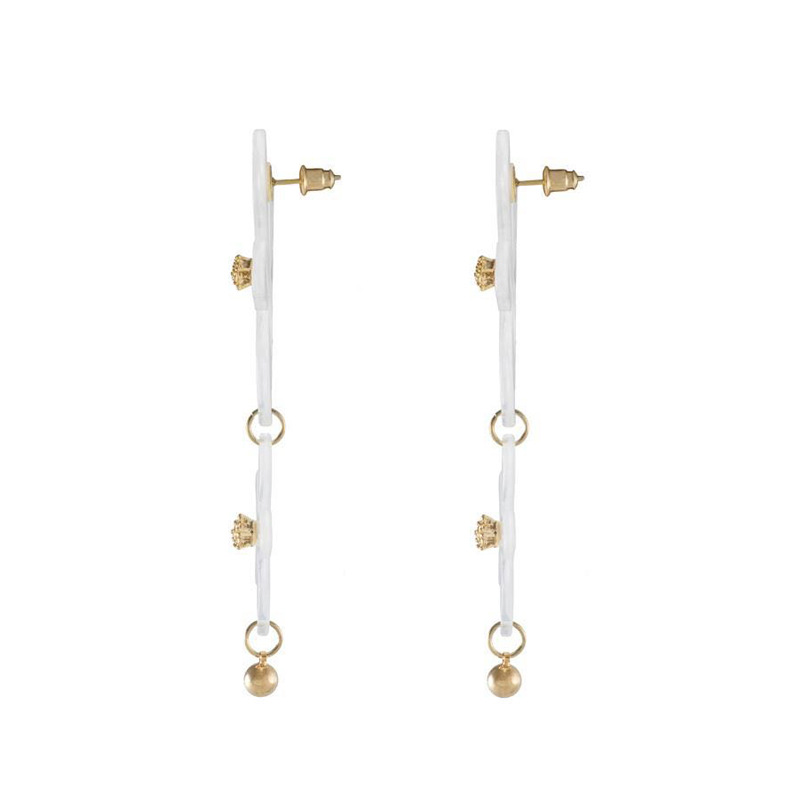 Vintage Hyperbolic Big Pearl Flower Punk Dangle Drop Women 39 s Earrings 2019 серьги серьги Fashion Jewelry Bohemia YSF in Drop Earrings from Jewelry amp Accessories