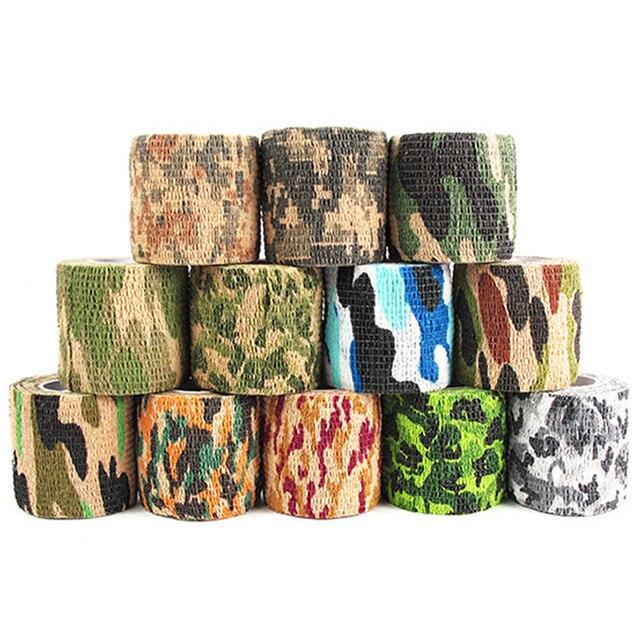 4.5M Camouflage Hunt Disguise Elastoplast Tape Self Adhesive Elastic Wrap for Body Hiding Sports Arm Knee Bandage