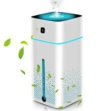 Için ev hava temizleyici ev kompakt masaüstü hava temizleyicileri filtrasyon gece lambası hava temizleyici USB şarj
