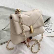 Nette Kette Kleine PU Leder Umhängetaschen für Frauen 2020 Trend Schulter Handtaschen der Frauen Marken Mode Trend Hand Tasche