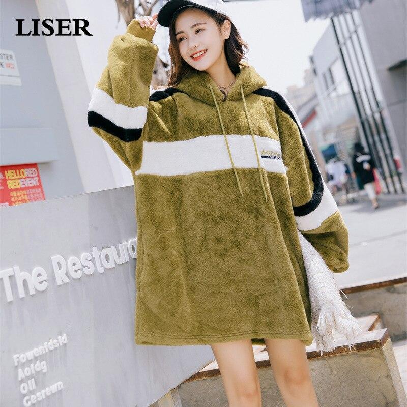 Vestes à capuche femmes sweat à capuche velours épais Harajuku Hoodies 2019 nouveau automne hiver vêtements femmes Bts Kpop sweat