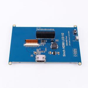 Image 5 - 1pc 800*480 5 인치 HDMI 터치 스크린 디스플레이 TFT LCD 패널 모듈 범용 모든 라즈베리 파이 디스플레이 800x480 HDMI 모니터