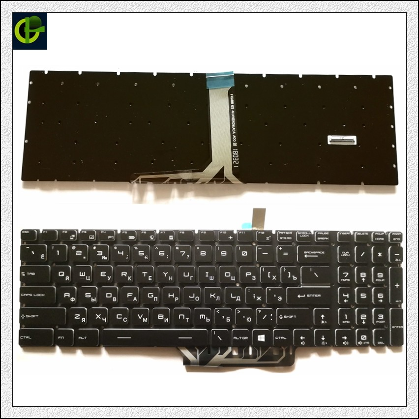 Полноцветная русская клавиатура с RGB подсветкой для MSI GS75 9SG 9SF 8SG 8SF 9SD 8SE colorful 9Z. NEKBN. B0F NSK-FCBBN RU