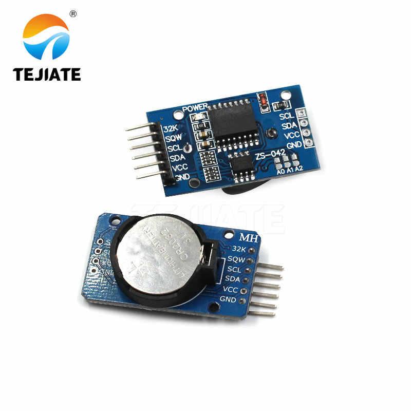 1 個 DS1302 DS3231 IIC リアルタイムクロックメモリモジュール CR2032 ミニ精密バッテリー Arduino のための動ユニット