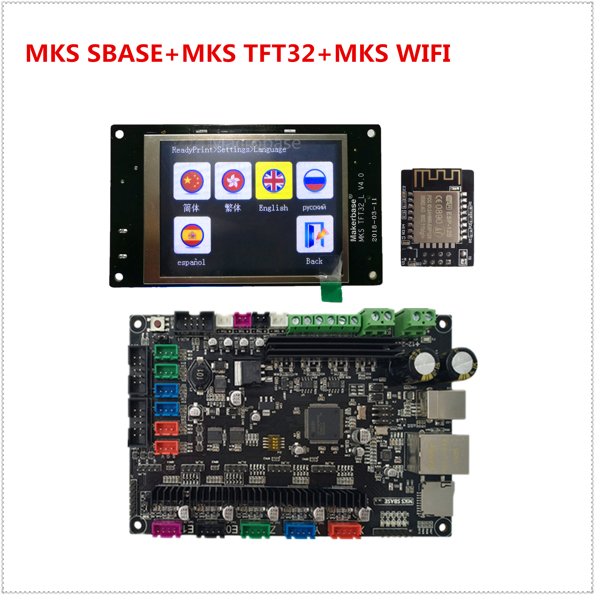 MKS SBASE V1 3 MKS TFT32 V4 0 display MKS TFT WIFI 3D printer electronic accessories
