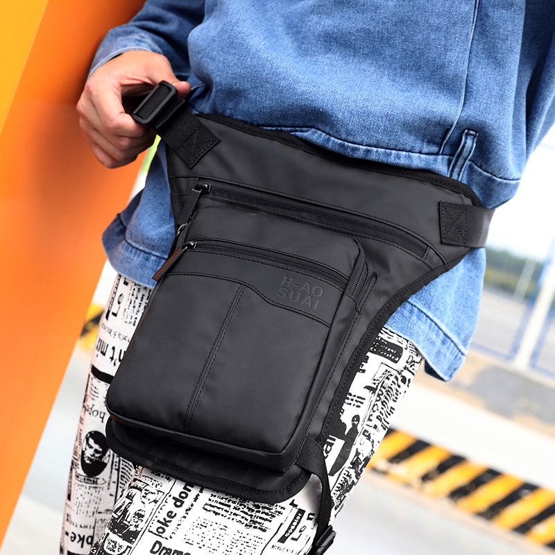 High Quality Nylon Waist Fanny Pack Motorcycle Hip Belt Riding Travel Shoulder Messenger Crossbody Bags Men Thigh Drop Leg Bag