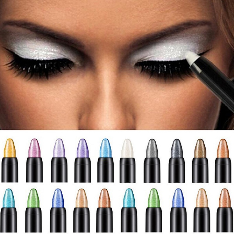 Fashion New Professional Eye Shadow Pen For Girls Women Makeup Eyeshadow Beauty Highlighter Eyeshadow Pencil 116mm Maquillage