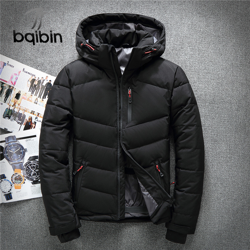 Waterproof White Duck   Down   Jackets Men Warm Hooded Mens Winter Parkas Thick Men's Jackets   Down     Coat   Casaco Masculino